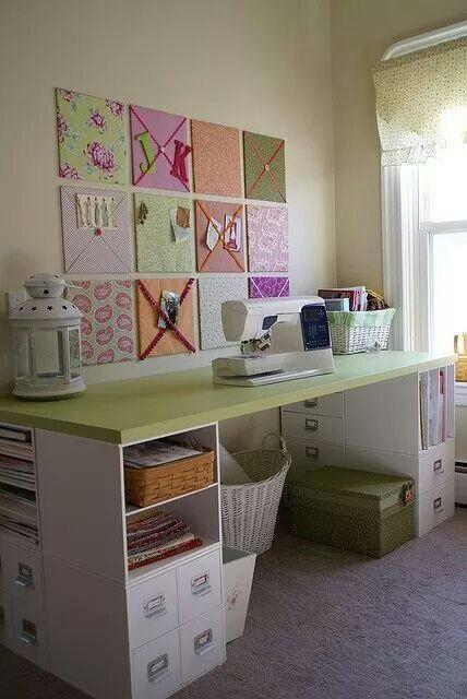 Nice, simple craft room.