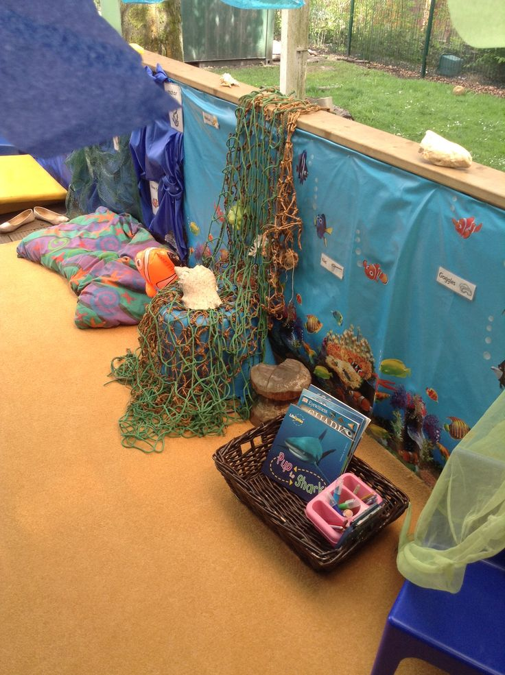 Under The Sea Role Play Area - writing