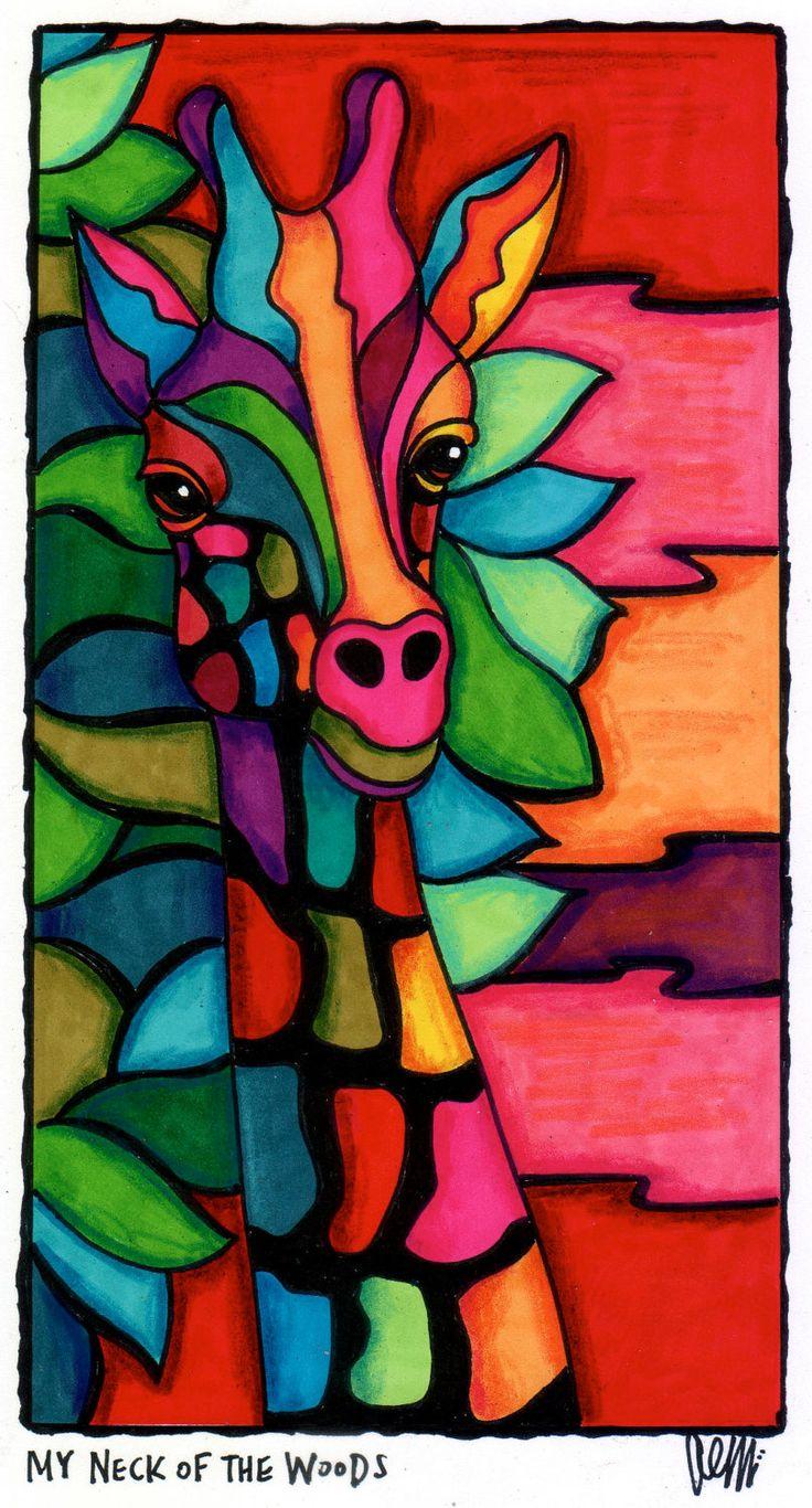 Polychromatic Giraffe -