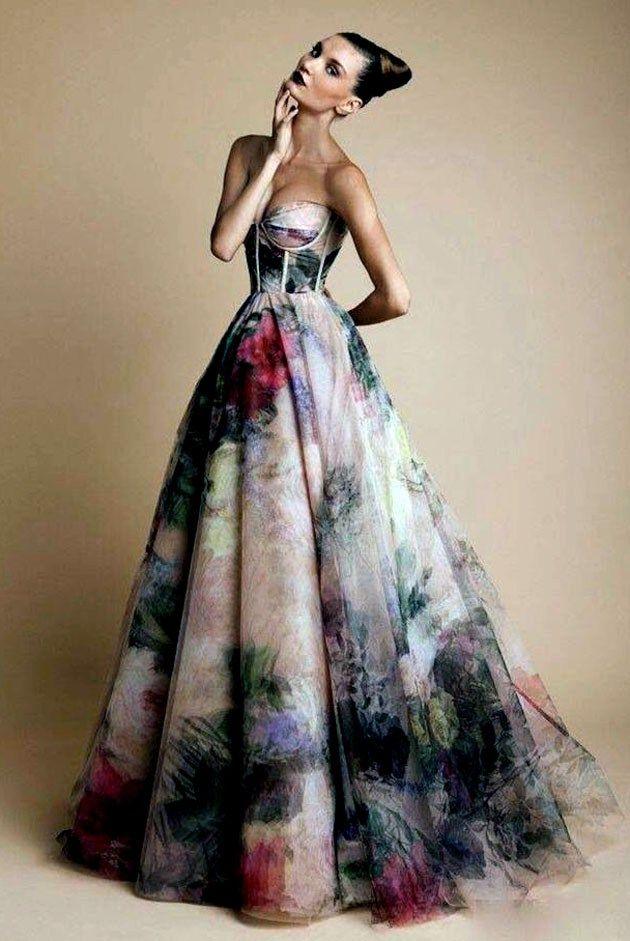 Colourful Wedding Dress, Unconventional Dress