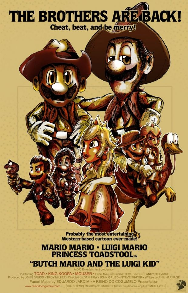 """Cool FanMade Video Game Movie Poster Art """"Super Mario"""