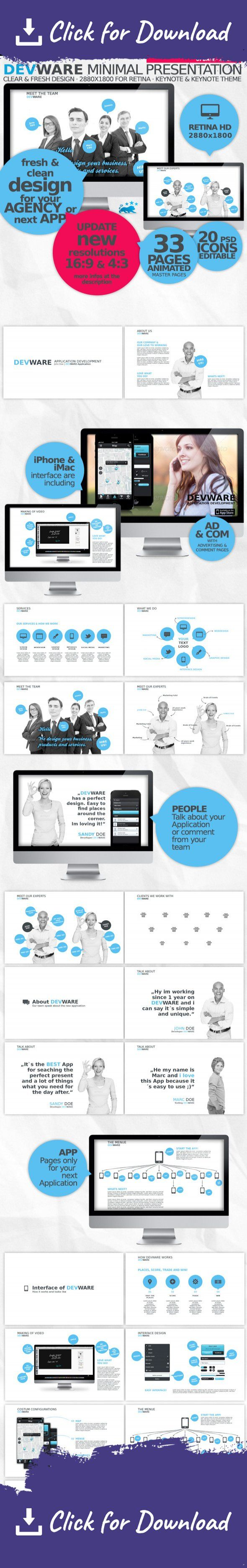agency, animated, app, application, business, clean, color, company, cool, corporate, corporate design, creative, design, designer, easy, fresh, idea, keynote, keynote theme, Media Theme, modern, multicolor, multipurpose, network, personal, portfolio, professional, psd, social, theme UPDATE · 2013 APRIL  + clean up the Master Files + every Master Files animated (so u cant do anything wrong) + more Resolutions + 16:9 | 1920×1080 + 4:3 | 1920×1440 incl. the 2880×1800 for Retina Displays ...