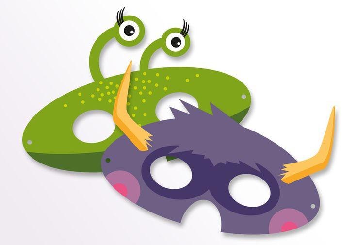 Kostüme & Verkleidung - Monster-Masken (9 Stk.) - ein Designerstück von Pia-Kolle bei DaWanda