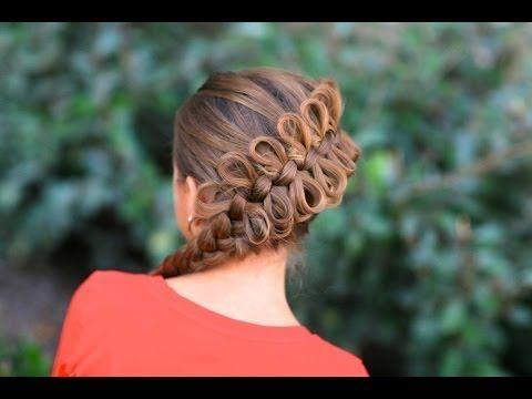 How to Create a Diagonal Bow Braid - YouTube