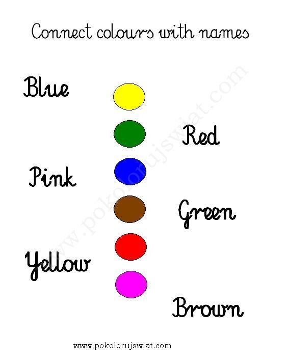 Karty pracy  Dopasuj nazwy kolorów