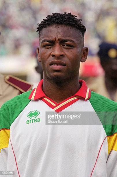 Portrait of Amadou Ndiaye of Senegal prior to the FIFA 2002 World Cup Qualifyng match against Morocco played at the Stade Leopold Sedar Senghor in...