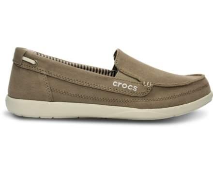 crocs Zapatillas Walu II Suede Loafer Boat para mujer, Carb¨?n de le?a, 6 M US