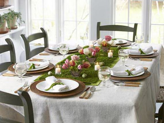 214 best easter table decoration ideas images on pinterest for Easter dinner table setting ideas