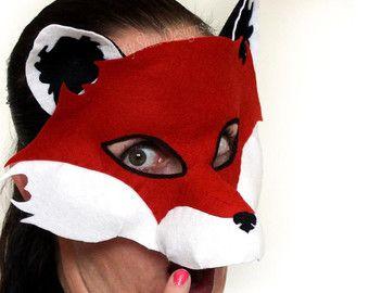 Fox Mask PATTERN. Kids Fox Costume PDF.
