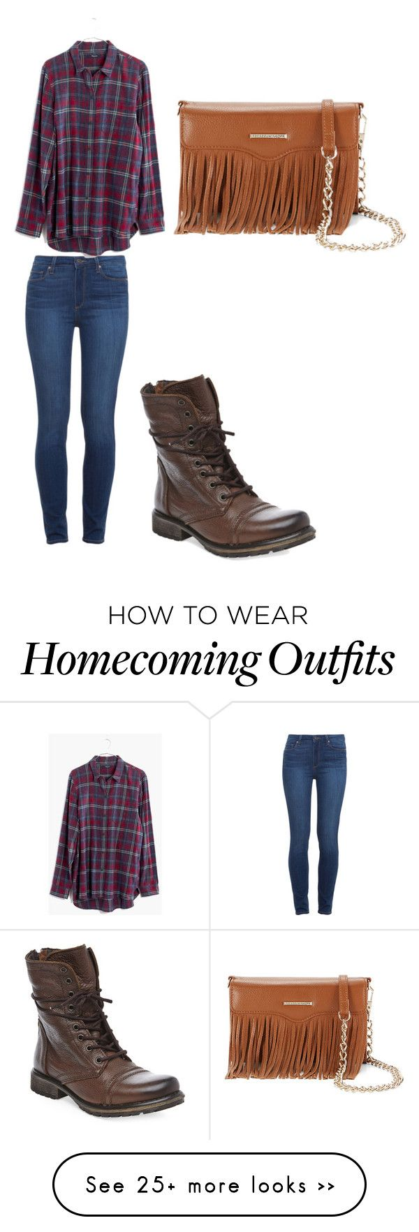 """homecoming week- coumgry vs country club"" by apangburn on Polyvore featuring Paige Denim, Madewell, Steve Madden, Rebecca Minkoff and country"