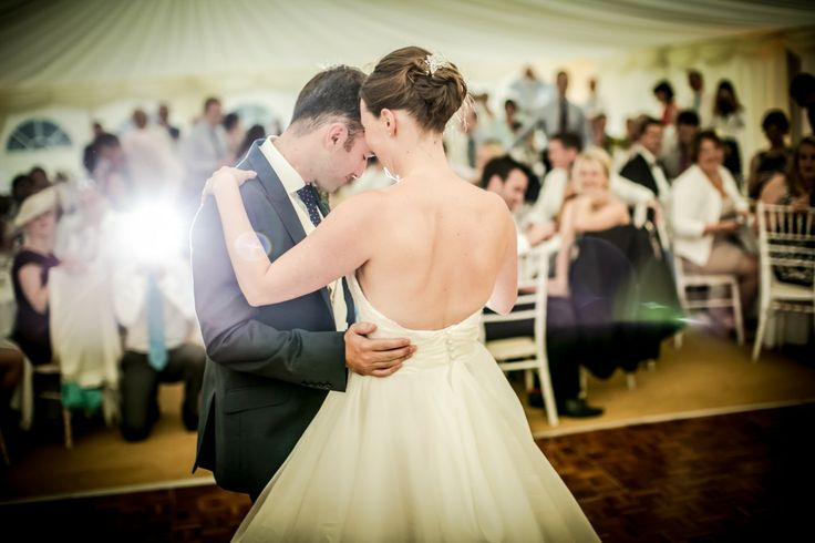 A first dance in a bespoke marquee.