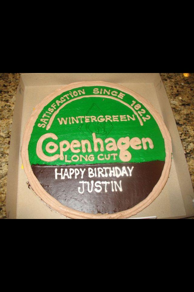Birthday cake. Copenhagen can.