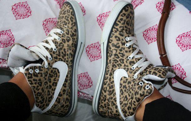 shoes leopard print leopard shoes nike leopard nike leopard print high tops women shoes nike nike
