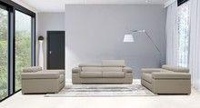 Divani Casa Atlantis Modern Light Grey Bonded Leather Sofa Set