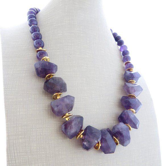# Alltagsschmuck # Amethyst # Edelstein # Gemstonenecklace # Halskette    – Necklace