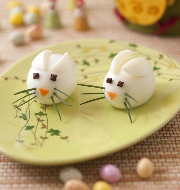 Photo de la recette : Petites souris en oeuf dur