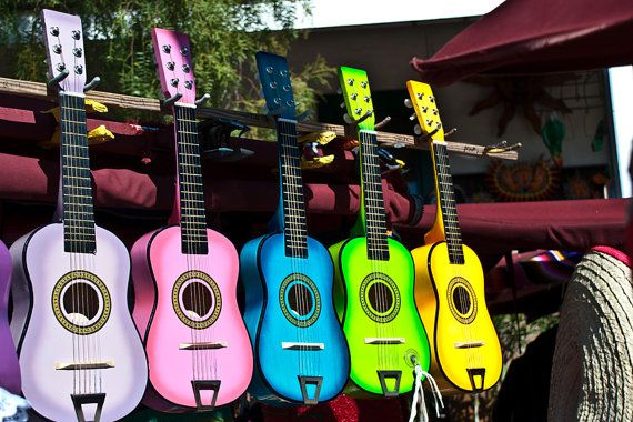 color, color, color, music, music, music: Colorful Guitars, Life, Ukulele, Colors, Musical Instruments, Things, Colored Guitars, Rainbow, Color Guitars