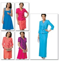 Misses Jacket, Dress and Skirt Butterick Sewing Pattern No. 5718. Size 6-14.