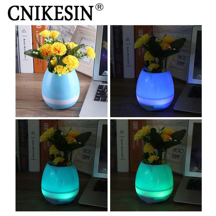 Promo offer US $16.74  Intelligent decorative Wireless Speaker Mini Bluetooth Smart Music flowerpot K3 Flower Pot with colorful LED Light  #Intelligent #decorative #Wireless #Speaker #Mini #Bluetooth #Smart #Music #flowerpot #Flower #colorful #Light  #Online