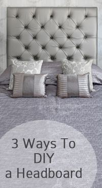 Headboard idea: apply trim to the wall, wrap fabric on foamcore to fit into trim.