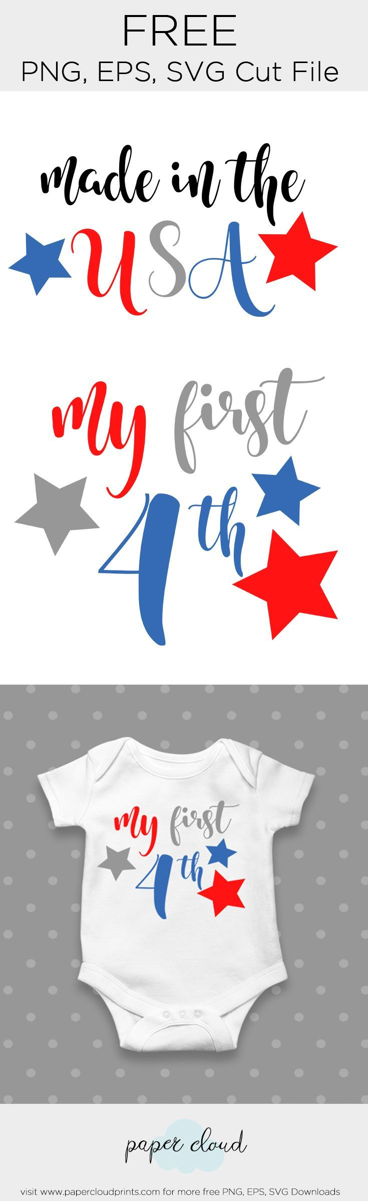 4th of July FREE SVG, PNG, EPS Download, 1st Forth of July