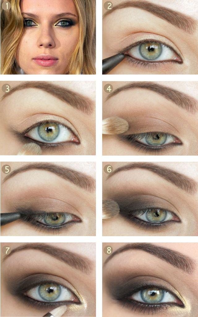 Miranda Kerr-inspired eye makeup tutorial from www.snobka.pl