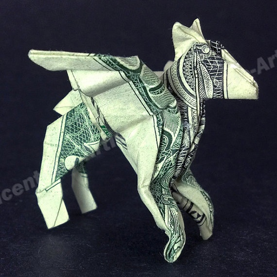 Dollar Bill Origami PEGASUS