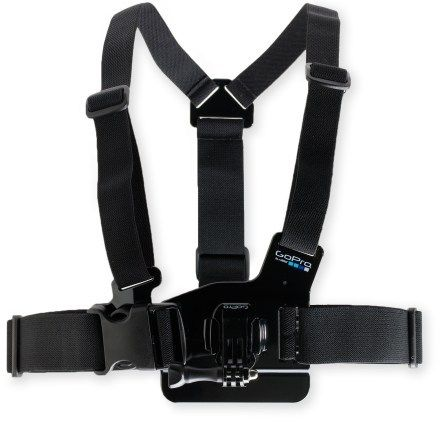 Go Pro chest mount camera harness keeps camera from flopping everywhere, getting banged on rocks and jacking with your balance while hiking, skiing etc.