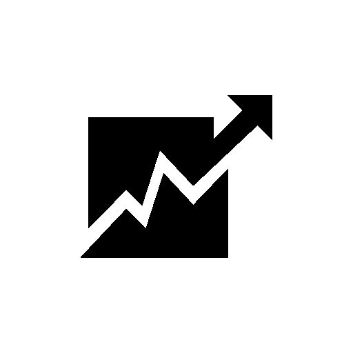 Ascending stock graph free icon