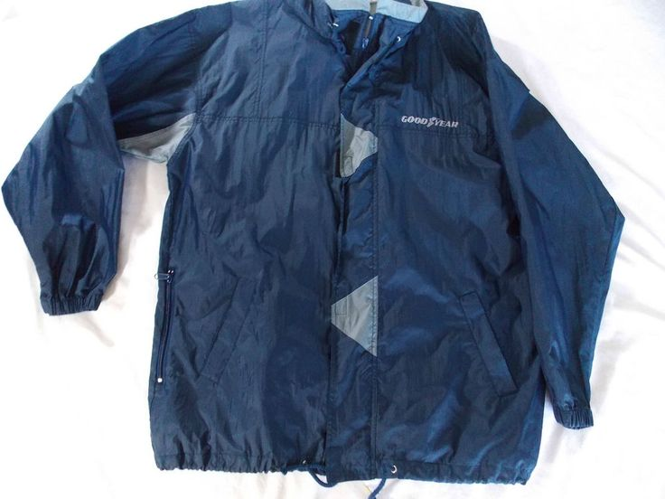 Goodyear Tires Windbreaker Rain Jacket Coat K-Way Transforms to Pouch Rainwear L #Mitex #Rainwear