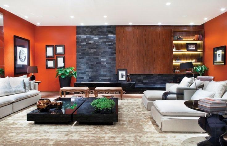 Die 25 besten ideen zu verblendsteine auf pinterest tv for Orange wandfarbe wirkung