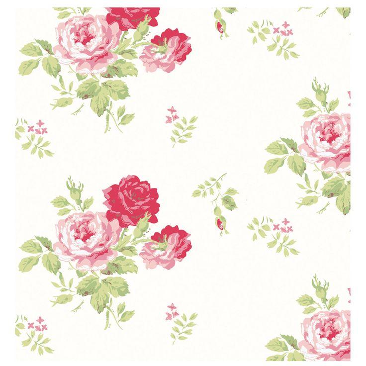 Antique Rose Bouquet Wallpaper | Wallpaper | CathKidston