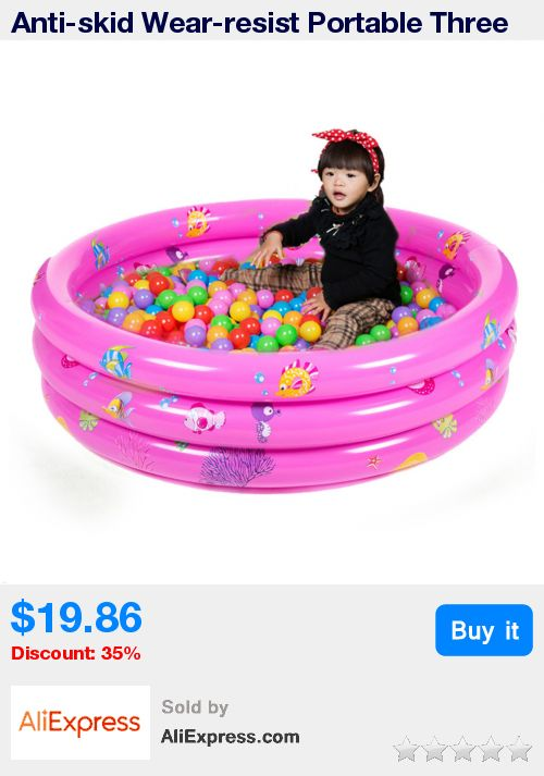 Anti-skid Wear-resist Portable Three Rings Trinuclear Baby Inflatable Swimming Pool Paddling Pool for baby swimming playing SAFE * Pub Date: 17:50 Apr 10 2017