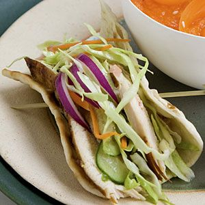 Chicken Lavash Wraps | MyRecipes.com