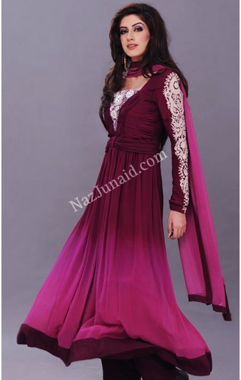 Purple Pishwas dress