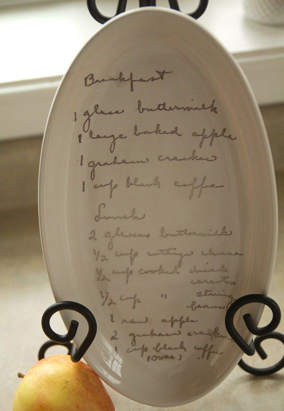 Artist Beth Martin will turn a handwritten note or recipe into a heirloom dish you'll treasure forever. #EtsyCustom