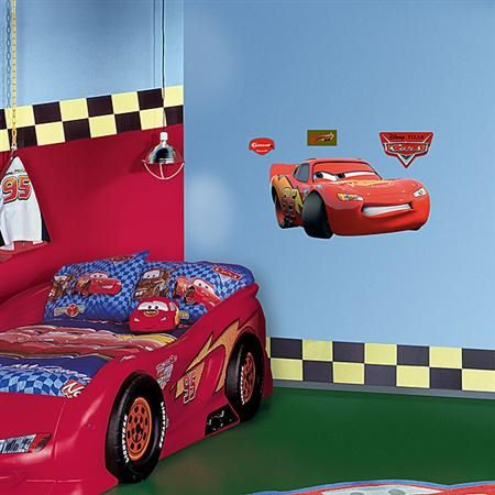 Disney Cars Lightning McQueen Fathead Junior   Wall Sticker Outlet