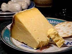 Cheshire cheese  Cheshire cheese /ˈtʃɛʃər/ is a dense and crumbly cheese produced in the English county of Cheshire, and four neighbouring counties, two in Wales (Denbighshire and Flintshire) and two in England (Shropshire and Staffordshire).