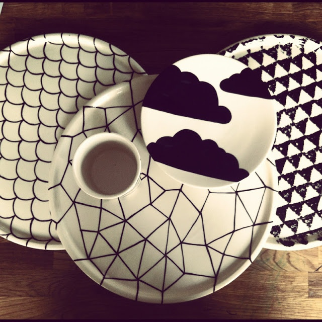 Love the decoration on these plates. They make a lovely set, but each can stand alone as a great piece. Apologies but maker unknown.