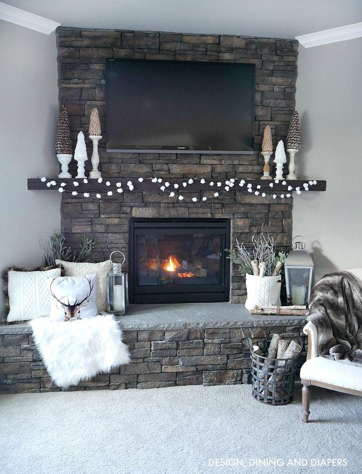 Cozy Winter Mantel