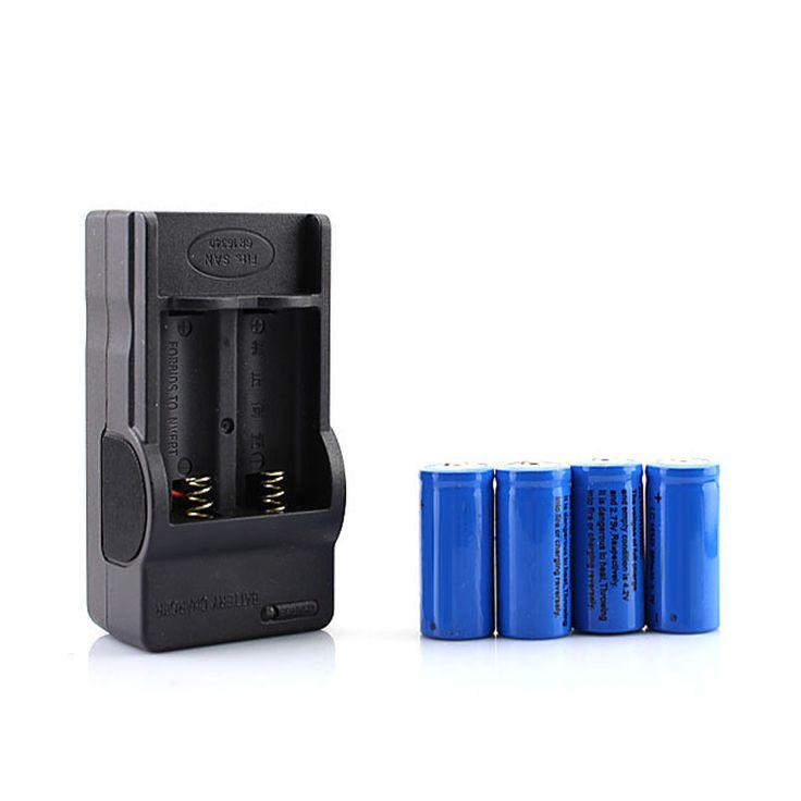 Nuevo 4x16340 CR123A Batería Recargable + Cargador de Pared, envío Gratis