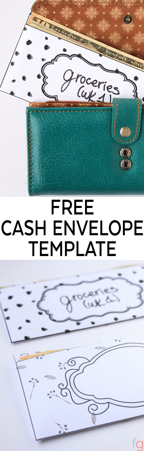 Free Budget Printables:  Free cash envelope template that will fit in your wallet! No special tools required - just download the free template, and cut and fold to make your envelopes for your cash envelope system!