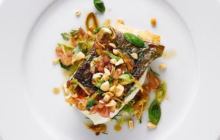 Chilean Sea Bass with Peanuts and Herbs - I made this for dinner the other night. Delicious! Warning: those teeny Thai chilies are HOT!!!!! And I like spice! The next time I would use jalapeno so my husband will eat the sauce. Yum!!!!
