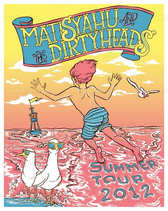 Matisyahu & Dirty Heads Poster by rolldrewgo on CreativeAllies.com