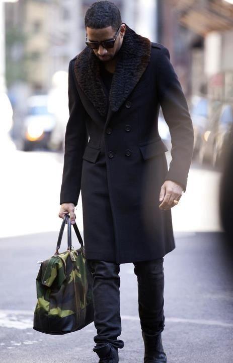 Ryan Leslie #Fur #Coat