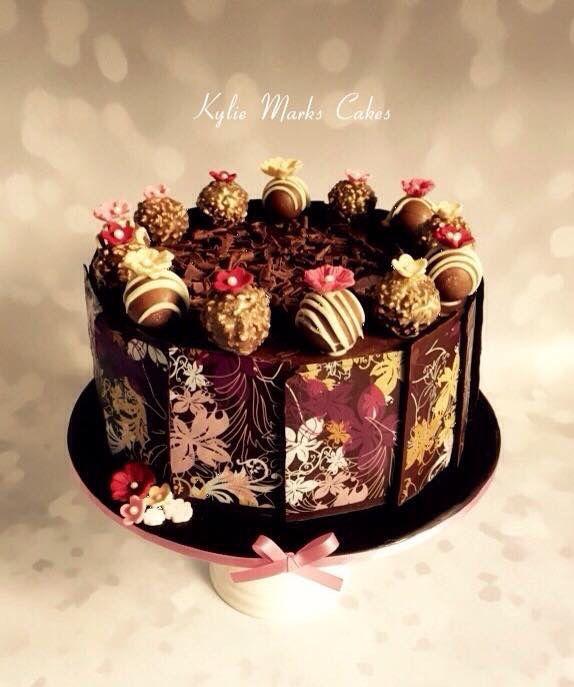 Chocolate decorated cake
