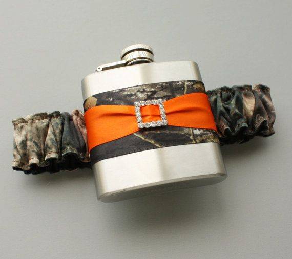Hey, I found this really awesome Etsy listing at http://www.etsy.com/listing/154648358/camouflage-flask-garter-camo-orange-or