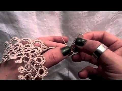 Tatting - Victorian Trellis Doily, Using Victorian Sets and Mock Rings - YouTube
