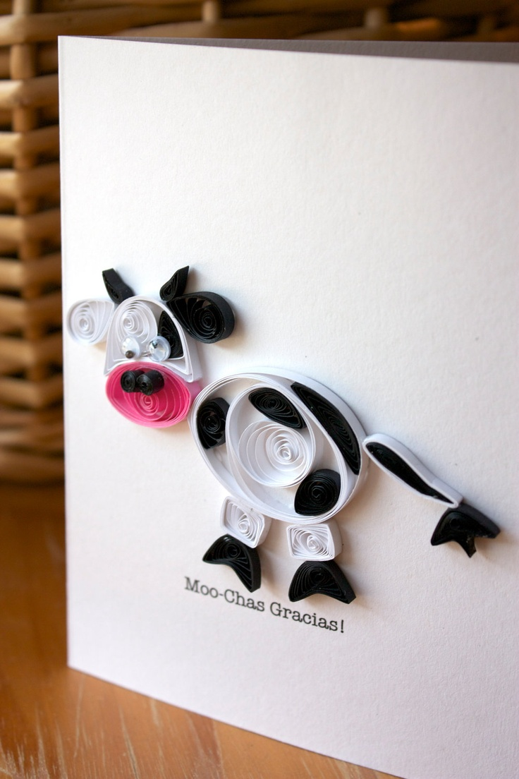Quilled Cow