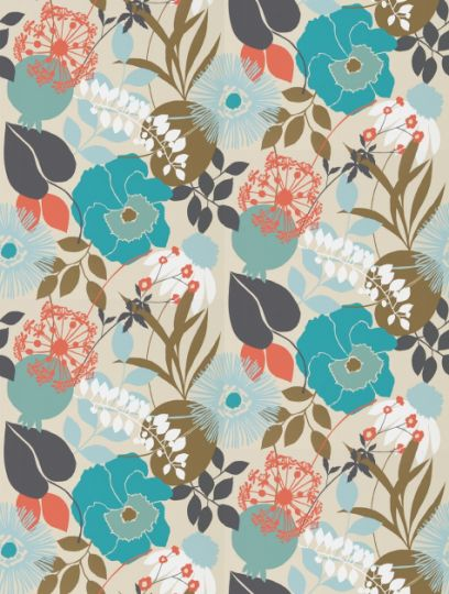Doyenne, a feature wallpaper from Harlequin, featured in the Standing Ovation collection.